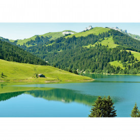 Fototapety Swiss Mountain Lake Launensee Gstaad DD118972 A.S. Création Designwalls